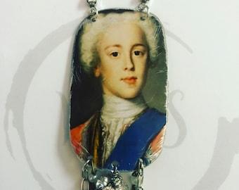 Vintage King Edward Charles Tin Necklace
