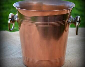 french vintage copper ice bucket bar wedding champagne