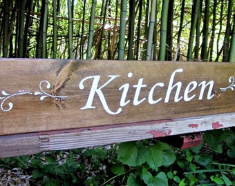 KITCHEN Sign~Color choice avaialable~Custom Colors