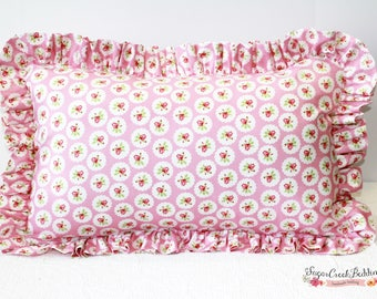 Charlotte's Lilly Ruffled Pillows: Std Sham, Euro Sham, and Various Size Pillows Available