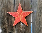 Medium Rustic wood star #505