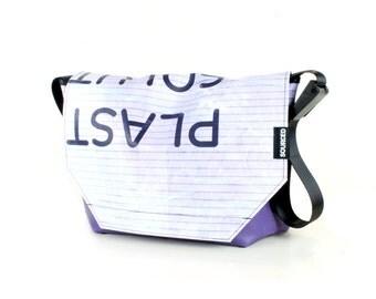 Large Messenger Bag made from Recycled Truck Tarp, Man Bag, Satchel Style Bag, MacBook Bag (58.02)