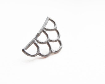 Pin - handmade sterling silver lace LP03