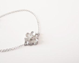 One Flower Sterling Silver - bracelet