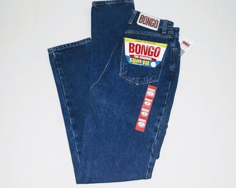 Boingo .. vintage 80s jeans / high waist waisted / Bongo skinny slim fit tapered taper /  deadstock NOS /  26/30 24 25 waist