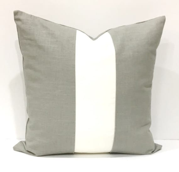 Pillow Gray White Linen Decorative Pillows Home Decor Throw