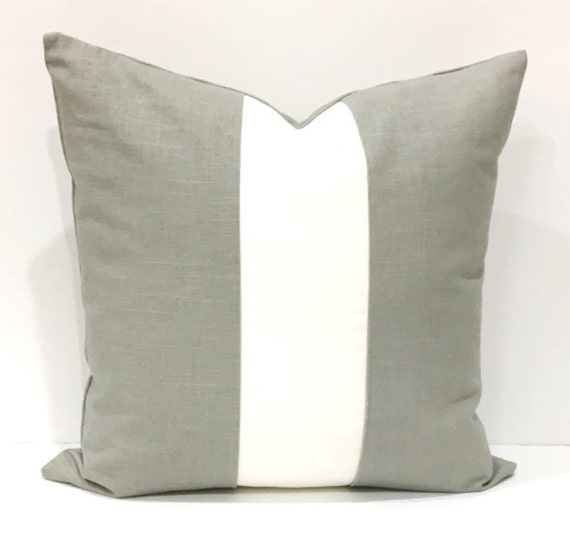 White Linen Throw Pillow : Pillow Gray White Linen Decorative Pillows Home Decor Throw