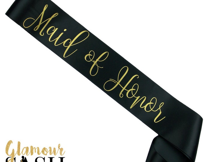 Maid of Honor Sash - You Choose Colors - Bachelorette Sash - Bridal Party - Future Mrs. - Personalized - Custom - Favor - Gift - Bride
