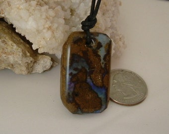 Australian Boulder Fire Opal with Bright Lavender to Purple Fire 658