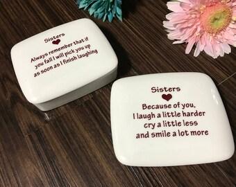 Gifts-for-Sisters | Handmade Ceramic Trinket Box | Sister Gift | Sister Birthday Gift from my Charleston, SC Studio