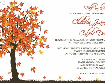 Custom Wedding Invitations Listing for Chelsea Hauck - fall in love wedding invitations