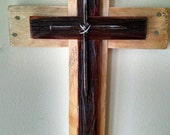 Rustic Old Rugged Cross...Reclaimed Wood..Nail Cross...Wall Decor...Great Wedding Gift Idea..