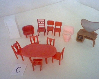 Vintage Plastic Dollhouse Furniture Etsy