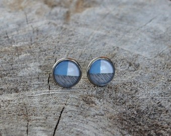 Petites merveilles rayure // earrings // fait au quebec   (BO-1221)