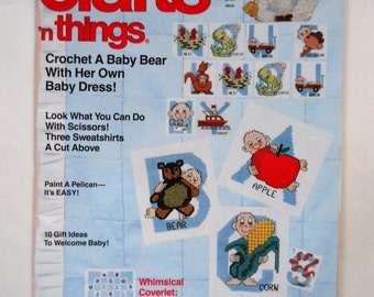 Crafts n Things Magazine - Vintage Craft Patterns and Instructions - 1990 - Sewing and Craft Projects and Templates