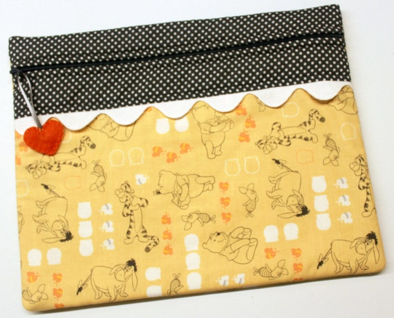 Pooh and Friends Cross Stitch Embroidery Project Bag