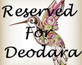 Reserved for Deodara