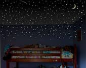 Boys room wall decal, Glow Stars, childrens room wall decal, toddler room wall decal, ceiling stars, bedroom stars, Glow in the Dark Stars