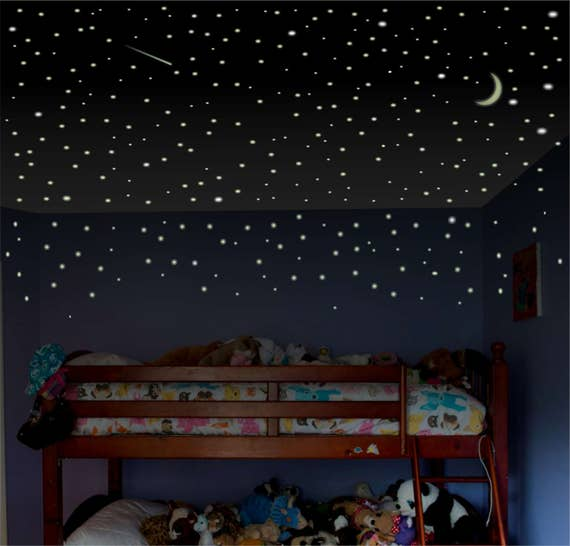 Boys Room Wall Decal Glow Stars Childrens Room Wall Decal