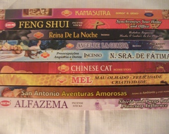 pack of 4 boxes  INCENSE , choose the fragrance