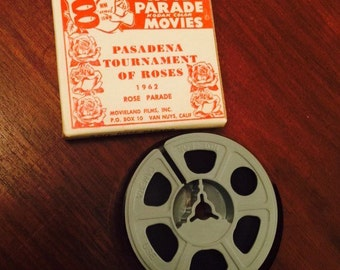 Vintage Kodak 8MM Film Reel Home Movie Tournament of Roses Rose Parade 1962 Mint in original box