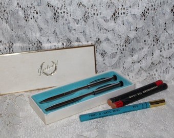 Vintage GARLAND Fountain Pen and Mechanical Pencil with Original Box