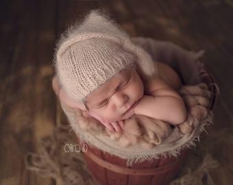 Angora sleep cap - Newborn - tan