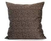 RESERVED FOR JENNIFER / Brown Throw Pillow Cover Textured Upholstery Fabric Decorative Pillow Cushion Cover Sham 26x26 24x24 22x22 20x20