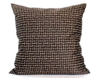 Brown Throw Pillow Cover Textured Upholstery Fabric Decorative Pillow Cushion Cover Sham 26x26 24x24 22x22 20x20 18x18 16x16
