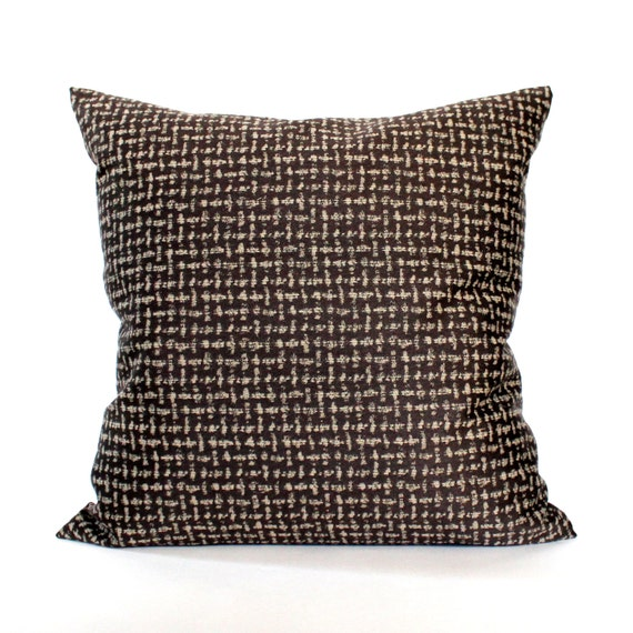 Brown throw pillow cover textured upholstery fabric decorative - Fabric for throw pillows ...