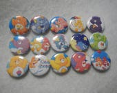 15 Care Bears Inspired Character Pinback Button Shower Goody Gift Treat  Party Favors Brooches