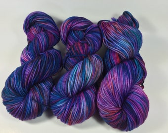 Trevor Morgan DK, Hand dyed yarn, DK Weight, Superwash Merino, Light Worsted, Haute Knit Yarn, Yarn, 8 ply, Hand dyed, Haute Shot