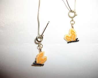 Orange Butterfly Charms