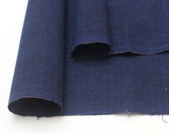 Japanese Artisan Indigo Cotton Scrap Set. Two Boro Folk Fabric Pieces (Ref: 1729A/B)
