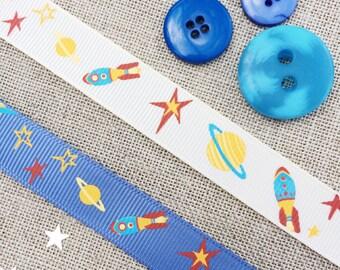 Rocket Ribbon in Blue or Cream