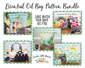 Essential Oil Case, Essential Oil Bag Patterns, Padded Oil Storage, PDF Patterns 5 Pattern Bundle for Essential Oil Bags *Permission to Sell
