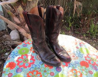 BIG SALE  mens frye cowboy boots  sz 9 1/2 D  vintage frye boots western wear black label