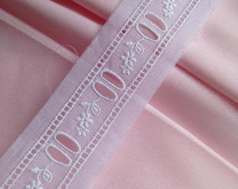 White Swiss Embroidered Beading for Heirloom Sewing