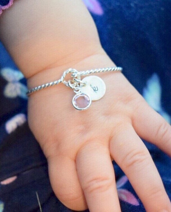 Charmed Baby Bracelet Hand Stamped Mom and Daughter Matching