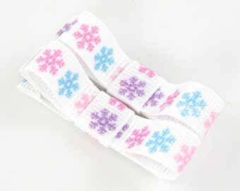 Girls Hair Clips, snowflake frozen hair clips, cute hair clips, baby hair clips, toddler hair clips, small pair barrettes at-2-froz-sflake