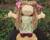 """RESERVED Custom Waldorf Girl Doll for Jordan - 12"""" Girl"""