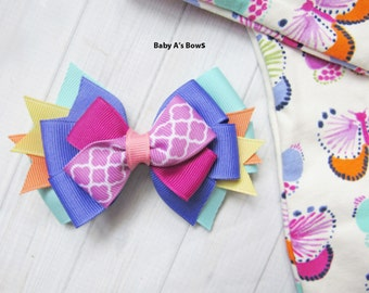 Matilda Jane Adventure Bow, Matilda Jane, M2M Matilda Jane, Spring Hair Bow, MJ Hairbow, Matilda Jane Clothing, M2M Hairbow, Girls Hair Bow