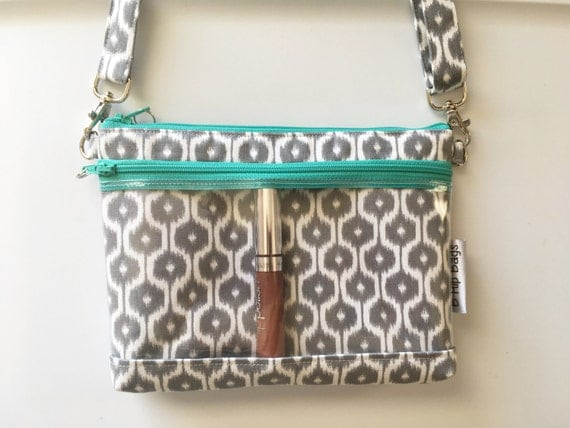 Clear Display Vinyl Pocket Direct Sales Ikat Zebra Clutch