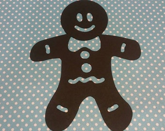 Gingerbread Die Cut 10CT- Die Cut- Cutout- Custom Colors Available