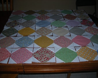Sampler Quilt Blocks Made With 30's Reproduction Fabrics