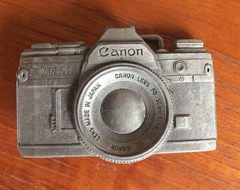 Vintage Canon Camera Belt Buckle