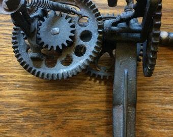 Primitive Victorian Peach Peeler Steampunk Gears