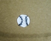 Set of 7 White Cotton Crochet Baseball Appliques for Monica