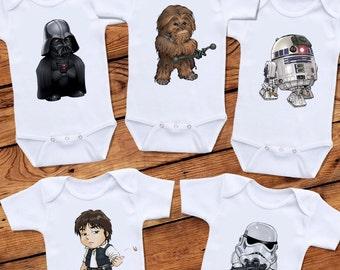 Star Wars Baby Onesie Set - 5 Onesies
