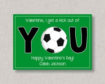 Soccer Valentine | Etsy